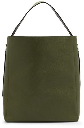 Valextra Grained-leather Tote Bag - Khaki
