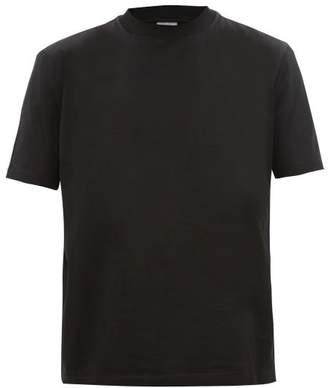 Lanvin Logo Print Mock Neck Cotton T Shirt - Mens - Black