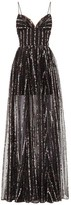 Rasario Sequinned Tulle Dress - Womens - Black