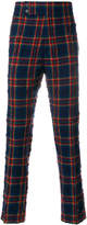 Haider Ackermann plaid trousers