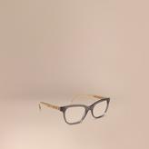 Burberry Check Detail Oval Optical Frames