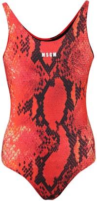 MSGM Logo One-Piece Swimsuit