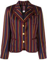 John Galliano Pre Owned tailored stripe jacket