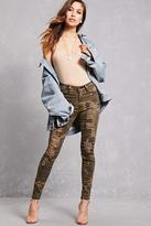 Forever 21 FOREVER 21+ Distressed Camo Skinny Jeans