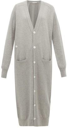 Extreme Cashmere - No. 125 Coco Longline Stretch-cashmere Cardigan - Grey