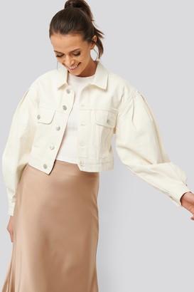 NA-KD Puff Sleeve Oversized Denim Jacket