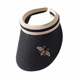 Momoxi Ladies Hat 2021 Outdoor Adjustable Bee Cap Summer Sunscreen Sun Hat Mesh Straw Hat Outdoor Sports Sun Hat for Travel Beach Camping Hiking Golf Fishing Walking