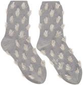 Y's Ys Grey Inside-out Rame Socks