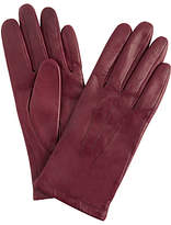 John Lewis Leather Fleece Lined Gloves