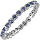 Simply Stacks Sterling Prong Created Sapphire Stackable Ring