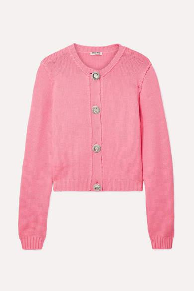 6e830c2b323 Crystal-embellished Cashmere Cardigan - Pink