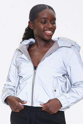 Forever 21 Reflective Zip-Up Windbreaker