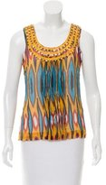 Tory Burch Embellished Silk Top