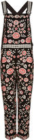 Needle & Thread Black Cherry Blossom Embroidered Dungarees
