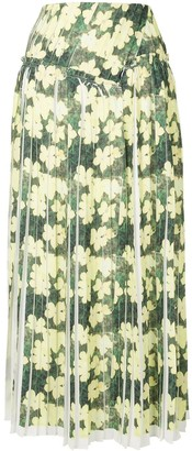 3.1 Phillip Lim Floral Pleated Skirt