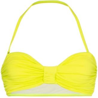Beth Richards Scrunchie ruched bandeau bikini top