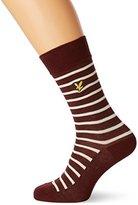 Lyle & Scott Men's Breton Stripe Calf Socks