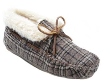 Minnetonka Plaid Slippers - Plaid Chrissy