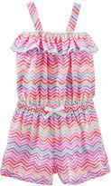 Osh Kosh Oshkosh Sleeveless Chevron Romper - Toddler Girls 2t-5t