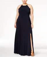 MICHAEL Michael Kors Size Braided Halter Maxi Dress