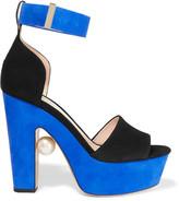 Nicholas Kirkwood Maya 120 two-tone suede platform sandals