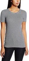 Petit Bateau Women's TS MC Col Rond Striped Short Sleeve T-Shirt