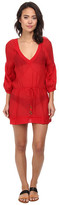 Vix Solid Red Julie Tunic
