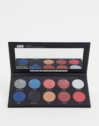 Uoma Beauty Black Magic Colour Eyeshadow Palette - Savage