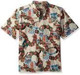Reyn Spooner Men's Spooner Kloth Classic Fit Button Front Hawaiian Christmas Shirt