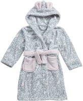 MINIKIDZ Girls Plush Animal Print Bath Robe (Ages 2-6yrs) Leopard Night Gown