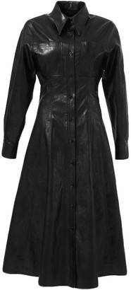LVIR Faux-Leather Shirtdress