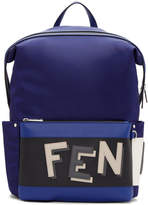 Fendi Blue and Navy Nylon Backpack
