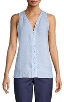 Thumbnail for your product : Pure Navy V-Neck Linen Tank Top