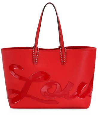 Christian Louboutin Cabata Logo Patent Leather Tote