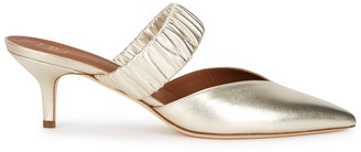 Malone Souliers Matilda 45 gold leather mules