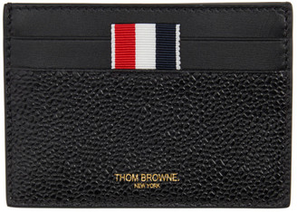 Thom Browne Online Exclusive Black Note Compartment Card Holder