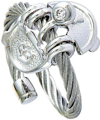 Charriol Stainless Steel Zircon Ring