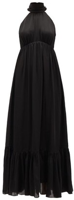 Zimmermann Wavelength Silk-chiffon Midi Dress - Black