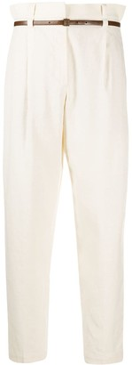 Brunello Cucinelli High-Waisted Belted Trousers