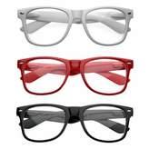 Zerouv Nerd Raver Poser Clubbing Clear Lens UV400 Dork Wayfarers Glasses