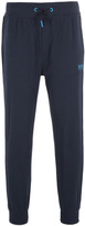 Boss Navy Contrast Lined Tapered Tracksuit Bottoms