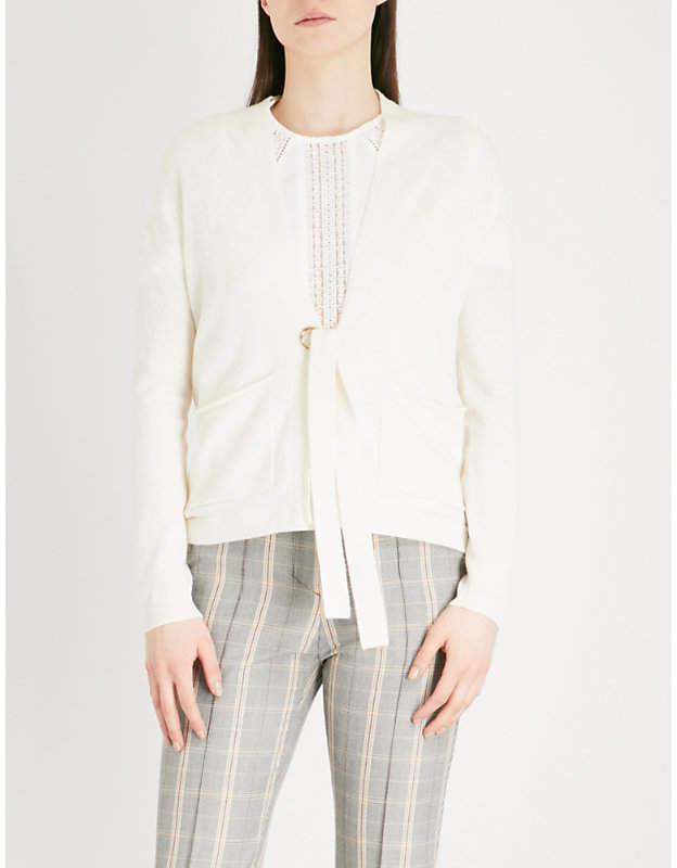 Maje Mariani wool and cashmere-blend cardigan