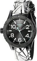 Nixon Women's A4672218-00 38-20 Leather Analog Display Japanese Quartz Multi-Color Watch