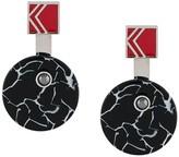 Karl Lagerfeld Paris round block earrings
