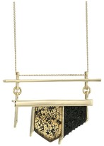 Alexis Bittar Crystal Encrusted Matte Black Pendant Necklace