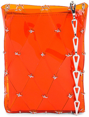 Paco Rabanne Sac Porte Epaul Diamond Crossbody Bag in Orange | FWRD