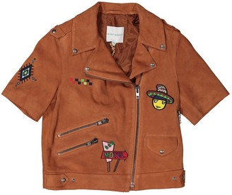 Mira Mikati Camel Suede Jacket for Women