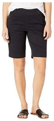 Jag Jeans Petite Gracie Pull-On Bermuda Shorts (Black) Women's Shorts