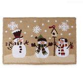 Heartland Snowmen 1 Foot 6-Inch x 2 Foot 5-Inch Kitchen Rug in Natural