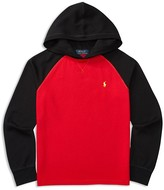 Ralph Lauren Boys' Colorblock Waffle Knit Hoodie - Sizes S-XL